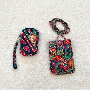 Bundle of 2 Vera Bradley wristlet & cell crossbody